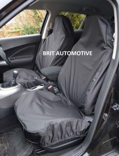 Front Pair SKODA OCTAVIA 2013 ON Heavy Duty Black Waterproof Car Seat Covers