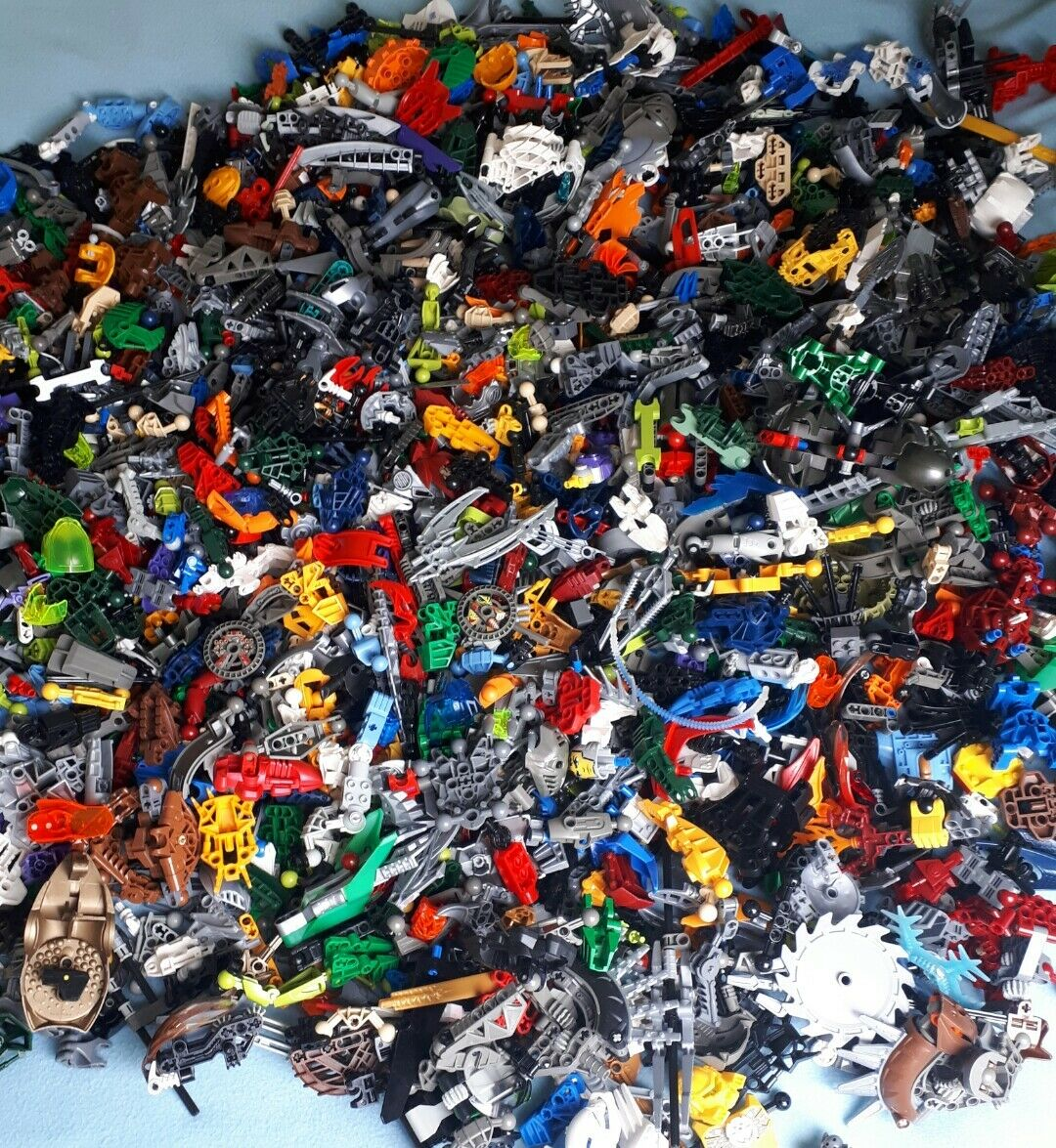 LEGO BIONICLE 1KG Misti Pezzi Di Ricambio Pezzi BULK Job Lotto Bundle ARMA buona pulita