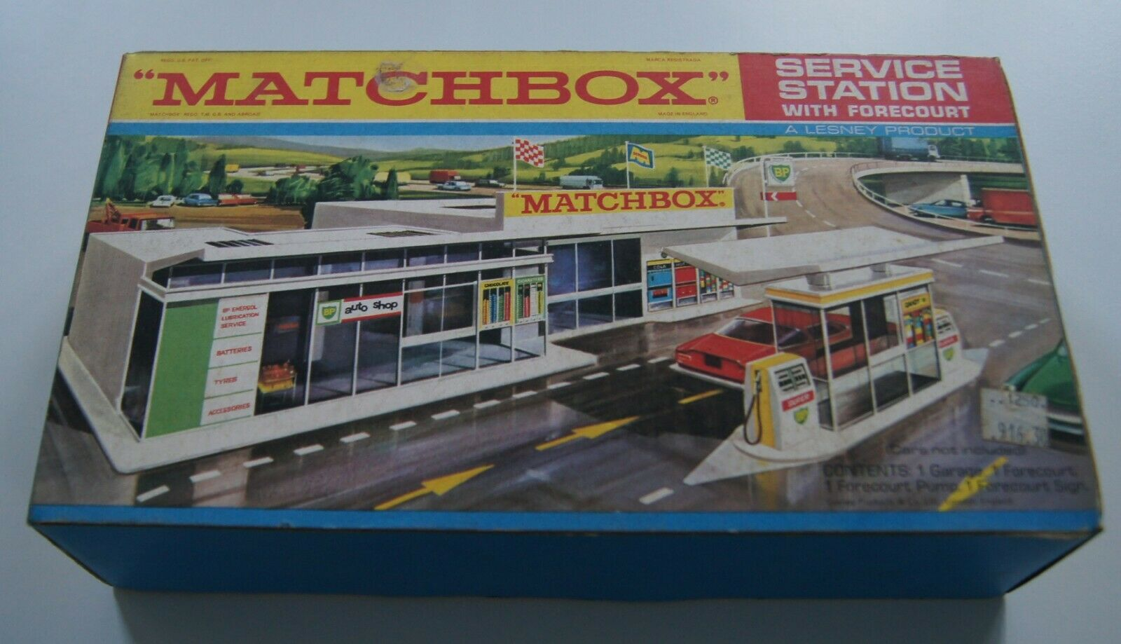 MATCHBOX GARAGE STATION SERVICE BP MG1 ANNEES 70 NEUF EN BOITE