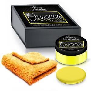 Cera-de-Carnauba-Coche-Amarillo-Brillo-Radiante-definicion-de-alto-brillo-150g-Kit-Puro