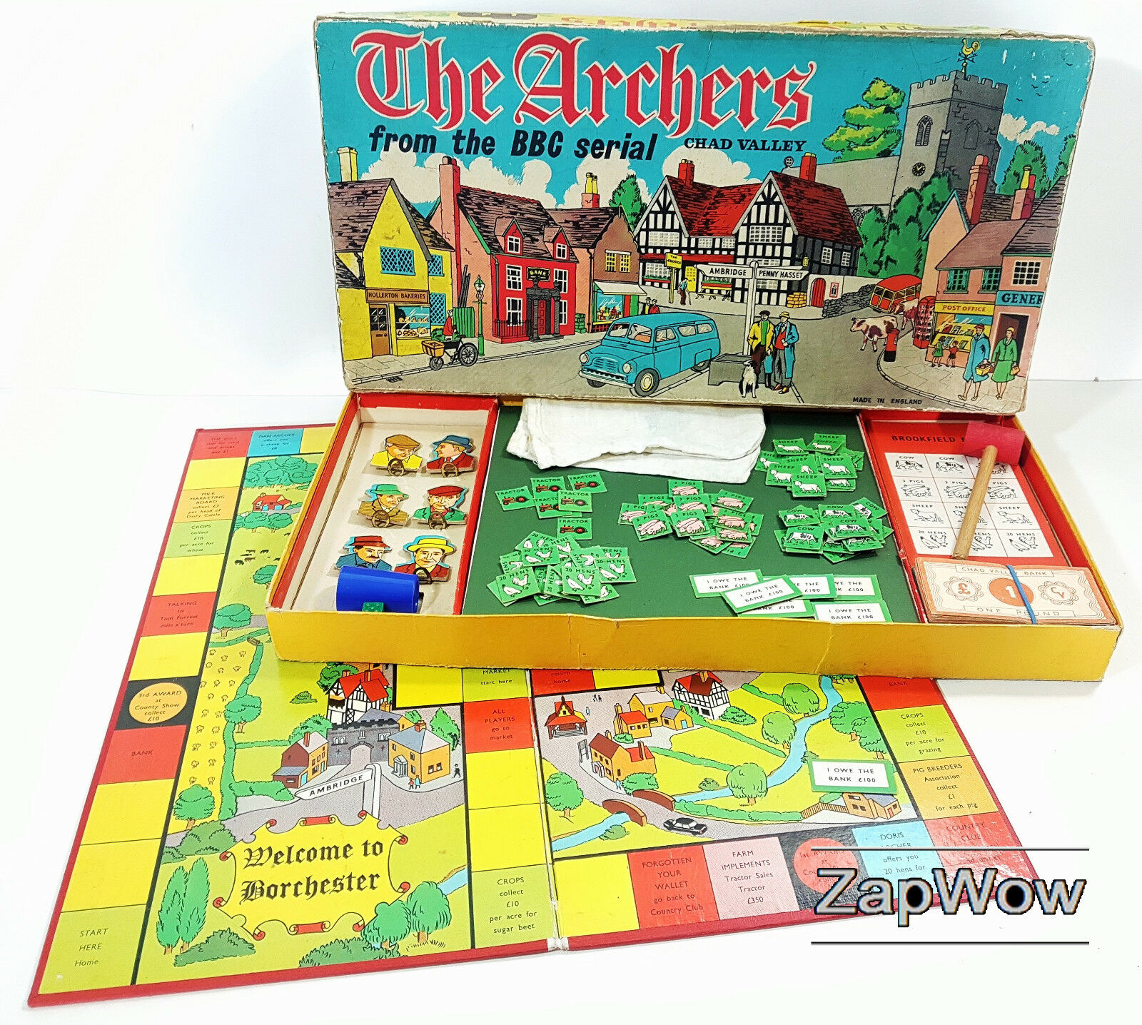 THE ARCHERS 1960s Complete Vintage Chad Valley Board Game BBC Radio 4 Ambridge
