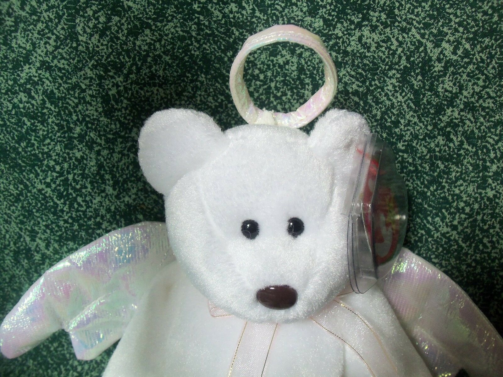 b5d816e3f10 Halo The Angel Bear - TY Beanie Baby 1998 MINT for sale online