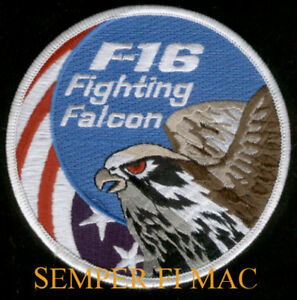 F16-FIGHTING-FALCON-PATCH-US-AIR-FORCE-THUNDERBIRDS-ANG-AFB-PIN-UP-PILOT-CREW