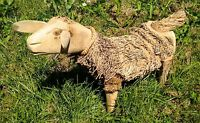 Sheep Sculpture Wood Carving Bamboo Root Ornament Statue Fair Trade Made In Bali