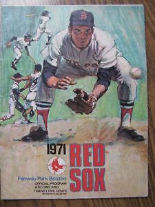 1971-RED-SOX-Fenway-Park-Boston-Official-Program-amp-Scorecard-32-NM-Pages