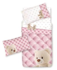 Biancheria Da Letto Trudi.Dettagli Su Completo Lenzuola Lettino Baby Bear Orsetti Neonato Rosa Cameretta Trudi Gabel