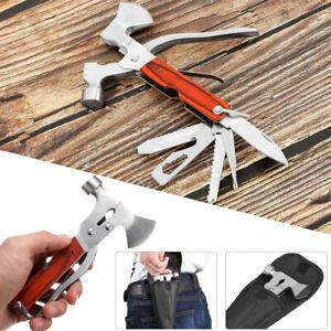 Multi Purpose Outdoor Camping Emergency Survival Tools Axe Hatchet Hammer Tool