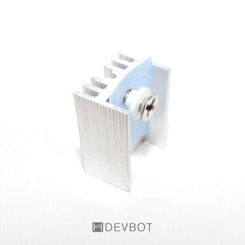 5x Dissipateur thermique Alu TO-220 + vis, bague, silicone, Radiateur. M3 DIY PI