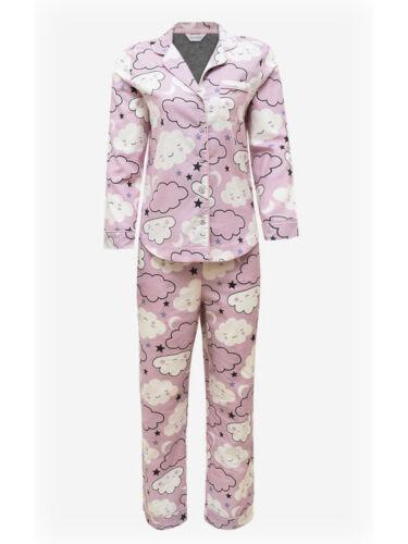 Nouveau Ex m/&s Femmes en Coton Rose Pyjama Set RPP £ 25 Lounge Wear Nuit Robe Siz 8-20
