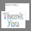 thumbnail 1 - 1-100 Pack of Thank You Cards Postcards Notes Envelopes A6 Thankyou Floral Multi