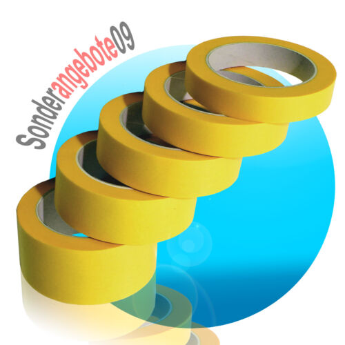 50m Malerkrepp Abdeckband Kreppband Klebeband Papierabdeckband 19 25 30 38 50 mm