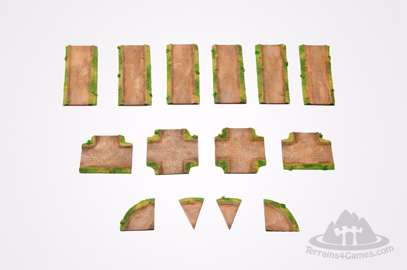 Wargaming Scenery RURAL ROAD Set 64  -  14 pieces - 15mm painted Flames of War