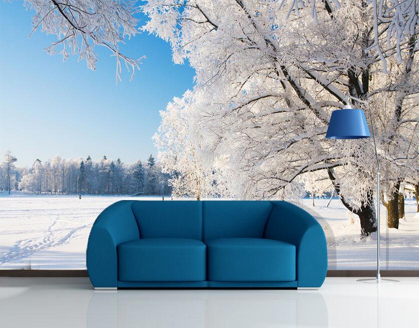 3D Schnee, Bäume Fototapeten Wandbild Fototapete Bild Tapete Tapete Tapete Familie Kinder | Haben Wir Lob Von Kunden Gewonnen  | New Products  | Am wirtschaftlichsten  803396