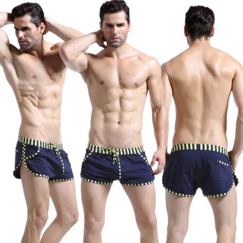 Lounge Boxer shorts Men/'s Loose Cotton Pajamas Sports Running Casual Home Pants