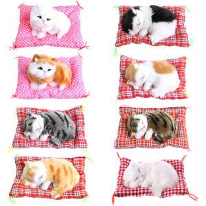 Plush-Stuffed-Toy-Cute-Sleeping-Cat-Press-Simulation-Sound-Animal-Kids-Doll-Gift