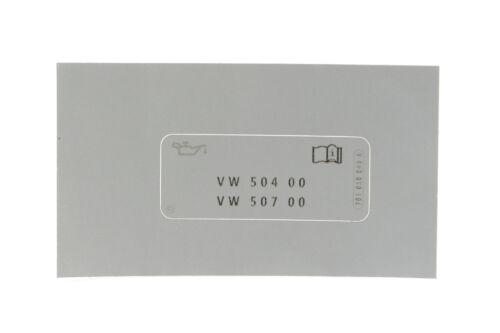 Originales de VW 701010043a etiquetado nota kennschild