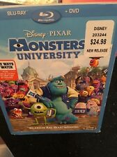 Disney Pixar Blu-ray + DVD Combo Monsters University SLIP COVER SEALED NEW
