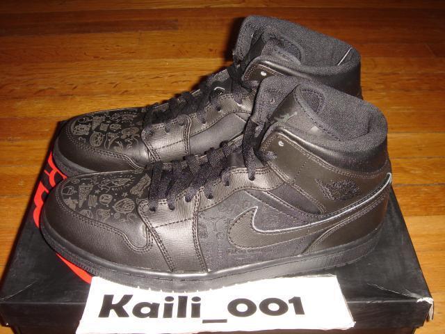 Nike Air Jordan 1 MID Sz 10 10.5 Mismatch 166 Flatbush NYC All Star Laser B