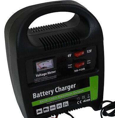 12v 6AMP Heavy Duty Battery Charger  Portable Compact Vehicle Car Van Bike