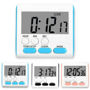 US Large LCD Digital Kitchen Egg Cooking Timer Count Down Clock Alarm Stopwatch