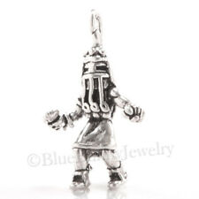 3D LONG HAIR KACHINA Native Indian South West Charm Pendant 925 STERLING SILVER