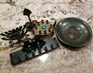 Jewish Items Collectibles Antiques Hakishut Oppenheim Menorah Ebay