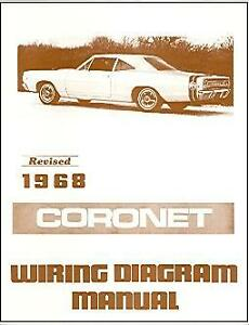 details about 1968 68 dodge coronet wiring diagram manual 1968 Chevrolet Chevelle Wiring Diagram