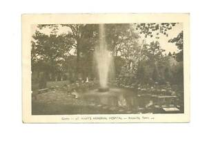 KNOXVILLE-TN-St-Mary-039-s-Hospital-Grotto-Fountain-Vtg-B-amp-W