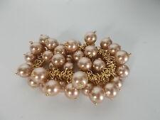 J.Crew Cluster Bauble Glass Bead Gold Link Elastic Bracelet NWT $29.50 Bronze