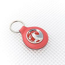 RED Leather Richbrook Vauxhall Logo Leather Key Ring / Fob 4400.43