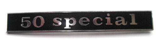 Vespa Emblem Schriftzug schwarz hinten Heck 50 N V50 Special Spezial Rahmen NEU