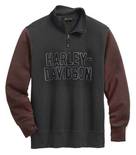 Harley-Davidson Mens 1//4-Zip Pullover Slim Fit 99030-20VM reduced to clear!