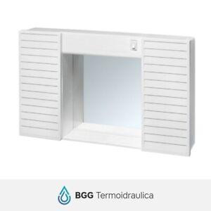 Mobiletto Bagno Plastica.Dettagli Su Mobiletto Da Bagno Plastica Cr Simpaty Bianco Con Specchio 2 Ande E Interruttore