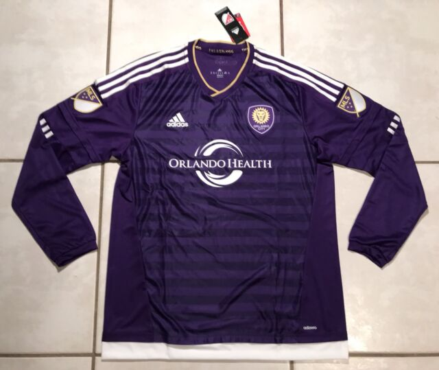 brand new 17f64 c9e35 adidas Orlando City Long Sleeve Authentic MLS Soccer Jersey Retail Size 2xl