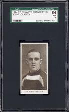 "1924-25 C144 Champ's Cigarettes Frank ""King"" Clancy (HOF, 2nd card) SGC 84+"