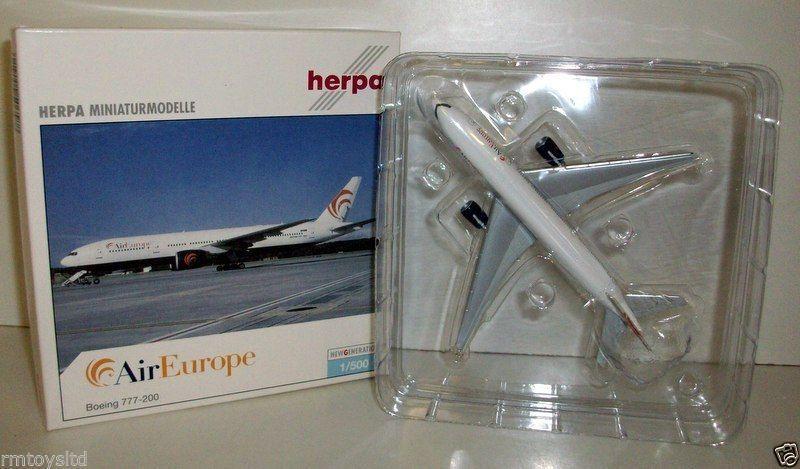 hasta un 50% de descuento HERPA 1 500 500 500 - 506588 AIR EUROPE BOEING 777-200 EI-CRS  ofreciendo 100%