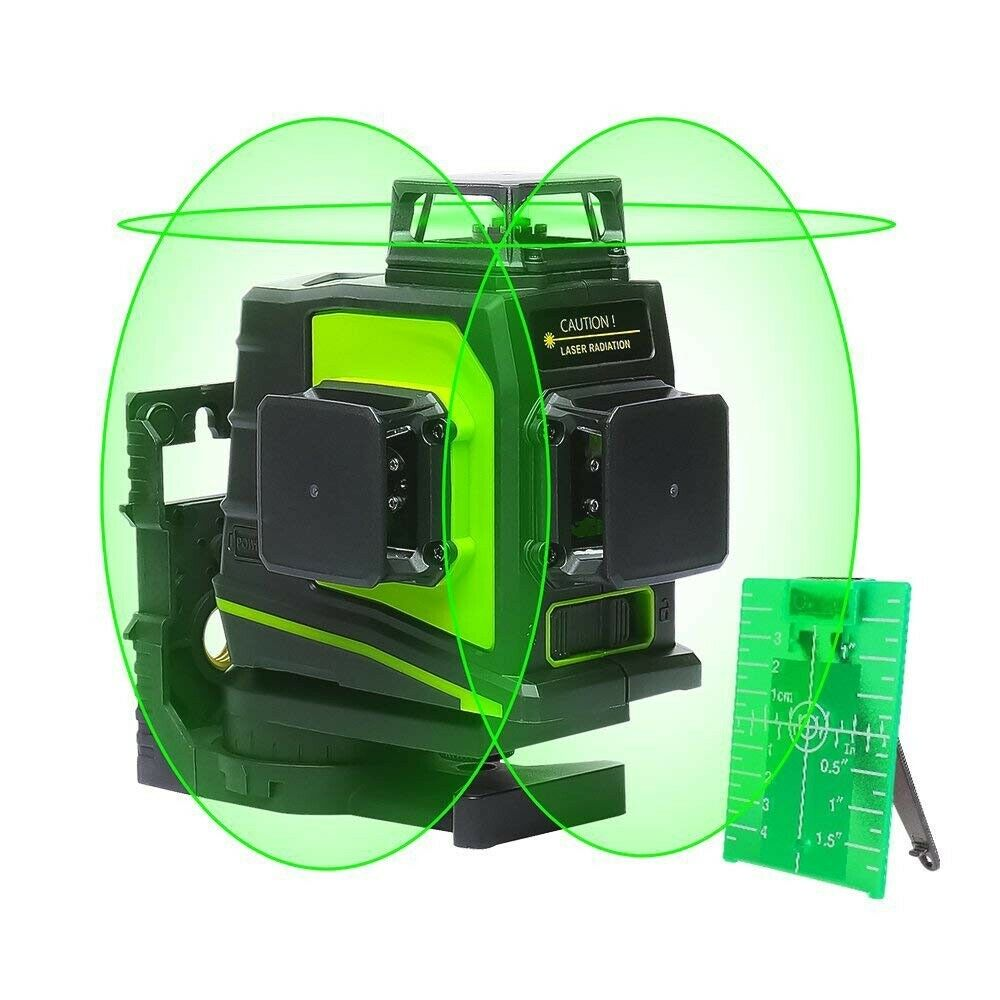 Huepar GF360G Kreuzlinienlaser Grün Linienlaser Selbstnivellierenden 3D 12Linien