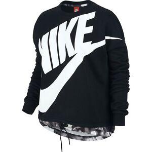 donna Logo 843542 S taglia da 010 Maglia Nike Modern Crew Gx bianco nero 6v5w5