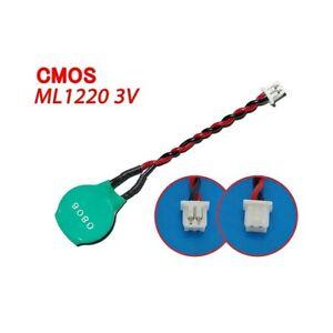 Varta ML1220 3V Rechargeable 2PIN Bios Backup CMOS Rtc Battery Laptop