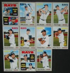 2019-Topps-Heritage-Tampa-Bay-Rays-Base-Team-Set-11-Baseball-Cards-Brandon-Lowe