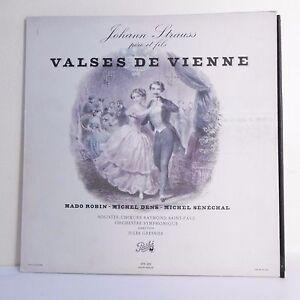 33T-Johann-STRAUSS-Vinyle-LP-12-034-VALSES-DE-VIENNE-Mado-ROBIN-M-DENS-M-SENECHAL