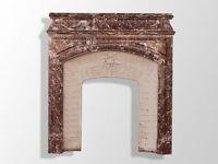 grande cheminée style Louis XVI marbre rouge