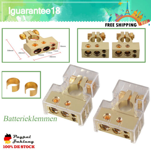 Batterieklemmen Auto Positive /& Negative Batterie Polklemmen Schnellklemmen DE