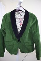 Arizona Jeans Co. Cotton Blend Green W/black Velvet Feel Lined Jacket Sz -l