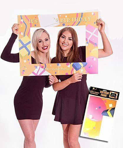 80 x 60cm Birthday Party Cardboard Frame Unisex Decoration Any Age