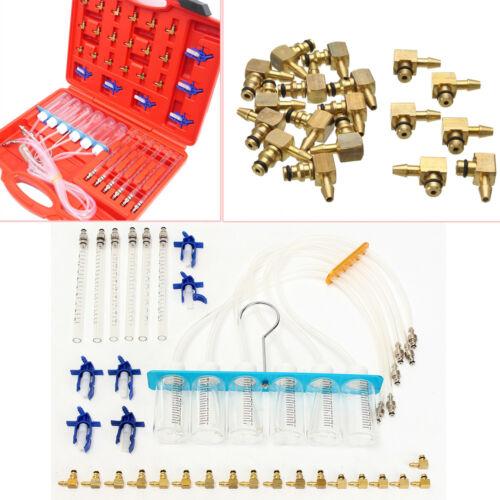 6 Cylinder Diesel Injector Flow Test Meter Adaptor Set Common Rail Tool Kit Well