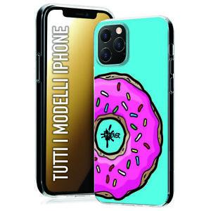 Dettagli su Custodia Cover Morbida gomma INKOVER per iPhone Donut ciambella homer celeste