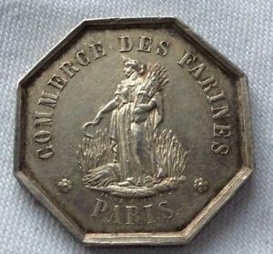 JETON-ROYAL-EN-ARGENT-MASSIF-1860-COMMERCE-DES-FARINES-PARIS