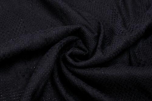 Impresionante Tela Polycotton tweed negro detalle cosido artesanía interior Cojines
