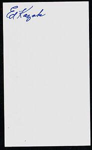 100% Vrai Eddie Kazak (d.1999) Autographe Signé Auto 3x5 Index Carte Baseball Joueur H3895 Un RemèDe Souverain Indispensable Pour La Maison